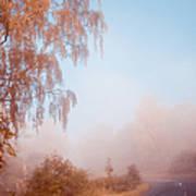 Autumn Fairytale. Misty Roads Of Scotland  Art Print