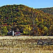 Autumn Farm Painted Art Print