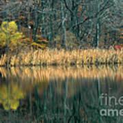 Autumn Fisherman Reflections Art Print