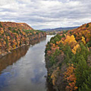Autumn Foliage Scenery Viewed From French King Bridge Art Print