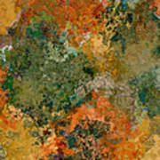 Autumn Forest Tree Tops Abstract Art Print