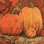 Autumn Harvest Art Print by Peggy McMahan