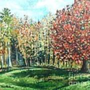 Autumn In My Backyard  Art Print