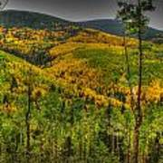 Autumn In The Rockies Hdr Art Print