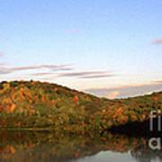 Autumn Lake Panoramic Art Print