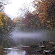 Autumn Morning On The Wissahickon Art Print