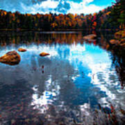 Autumn On Cary Lake Art Print