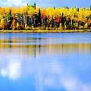 Autumn On Chena Lake Ll Art Print