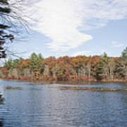 Autumn On Mill Pond Art Print