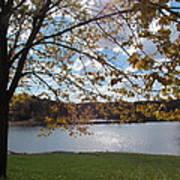 Autumn Overlooking The Dam Art Print