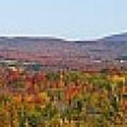 Autumn Panorama Brome Quebec Canada Art Print