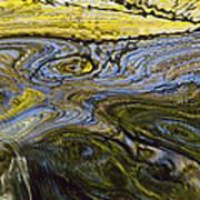 Autumn Patterns In Small Waterfall Art Print