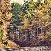 Autumn Railroad Art Print