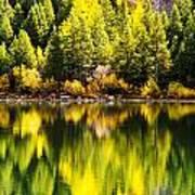 Autumn Reflection In Georgetown Lake Colorado Art Print