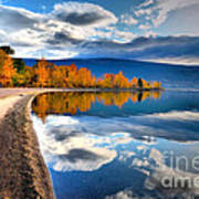 Autumn Reflections In October Art Print by Tara Turner