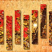 Autumn Sunrise Painterly Abstract Art Print