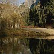 Autumn View Of The Park With Half Dome Art Print