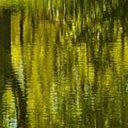 Autumn Water Reflection Abstract IIi Art Print