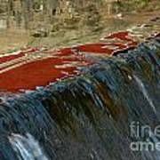 Autumn Waterfall Reflections Art Print