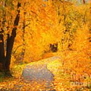 Autumn's Golden Corner Art Print