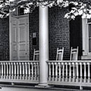 Avenel Porch - Bedford - Virginia Art Print