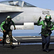 Aviation Boatswain Mates Signal A Clear Art Print