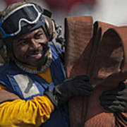 Aviation Boatswains Mate  Carrying Art Print