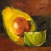 Avocado And Lemon Art Print by Jose Romero
