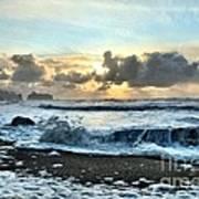 Awash In The Sea Art Print