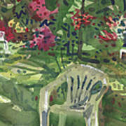 Azaleas And Lawn Chairs Art Print