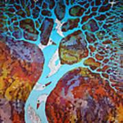 Azure Tree Art Print