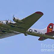 B-17g Aluminum Overcast Art Print