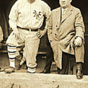 Babe Ruth And John Mcgraw 1923 Art Print by Padre Art