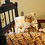 Baby Doll In Crib Art Print