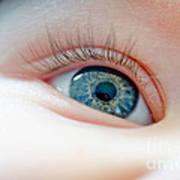 Baby Eye Close-up Of A Blue Eye Art Print