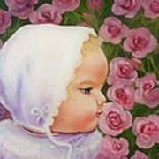 Baby Meets Hummingbird Art Print
