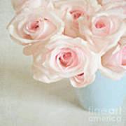 Baby Pink Roses Print by Lyn Randle