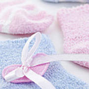 Baby Socks  Art Print by Elena Elisseeva