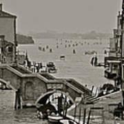 Back Door Of Venice Art Print