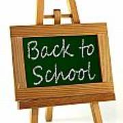 Back To School Sign Art Print by Blink Images