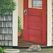 Backdoor Visitors Three  Art Print