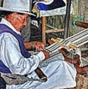 Backstrap Loom - Ecuador Art Print