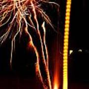 Backyard Fireworks 2012 1 Art Print