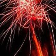 Backyard Fireworks 2012 4 Art Print