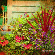 Backyard Flower Garden Art Print