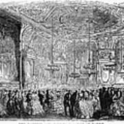 Baden-baden: Salon, 1858 Art Print