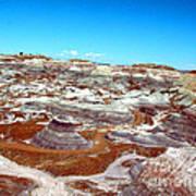 Badlands In The Painted Desert Art Print