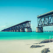 Bahia Hondas Railroad Bridge  Art Print