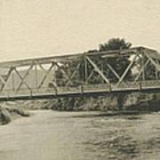 Bailey Bridge Over Willowemoc River Art Print