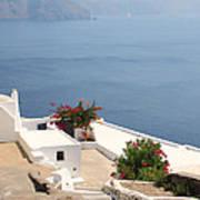 Balcony Oia Santorini Greek Islands Art Print